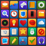 Vector icon set. Multimedia, mobile, software. Stock Photo