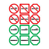 Vector icon set of no smoking and smoking allowed Stock Photos