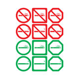 Vector icon set of no smoking and smoking allowed Stock Photo