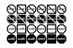 Vector icon set of no smoking and smoking allowed Stock Images