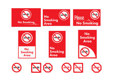Vector icon set of no smoking Stock Photo