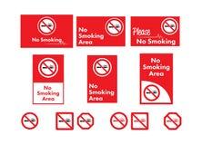 Vector icon set of no smoking. On white background royalty free illustration