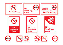 Vector icon set of no smoking Stock Images