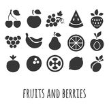 Vector icon set with other fruits and berries Stock Photography
