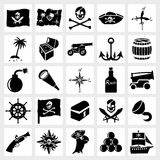 Vector icon set piracy Royalty Free Stock Photos