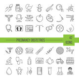 Vector icon set Royalty Free Stock Photography