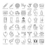 Vector icon set Royalty Free Stock Images