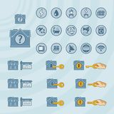 Vector icon set for real estate business Royalty Free Stock Photos