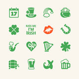 Vector icon set - Saint Patrick's Day Royalty Free Stock Photos