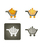 Vector icon set -  shoping car Stock Photo