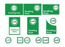 Vector icon set of smoking allowed Stock Image