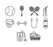 Vector icon set for sports Royalty Free Stock Photo