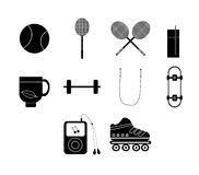 Vector icon set for sports Stock Photo