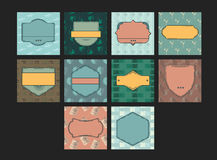 Vector icon set for summer vacation with blank badge Stock Photography