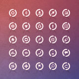 Vector icon set Royalty Free Stock Image
