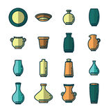 Vector icon set of various kitchenware Royalty Free Stock Photos