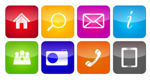 Vector icon set for web. This is file of EPS10 format Stock Photo