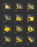 Vector icon set for web. Stock Images