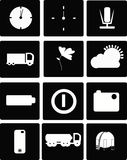 Vector, icon set Royalty Free Stock Photos