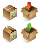 Vector icon of shipping box Stock Images