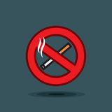 Vector icon sign no smoking on dark background vector illustration