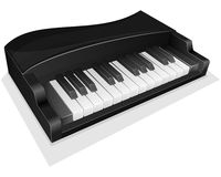 Vector icon. Small black piano Royalty Free Stock Images