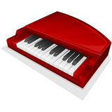 Vector icon. Small red piano Royalty Free Stock Photo