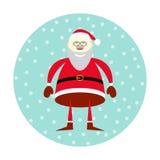 Vector icon of smiling Santa Claus Stock Photos