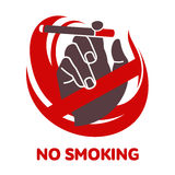 Vector icon on smoking in flat style Royalty Free Stock Photo