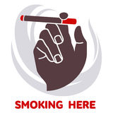 Vector icon on smoking in flat style Stock Photography