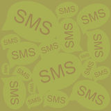 Vector icon sms Stock Images