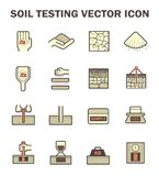 Soil test icon. Vector icon of soil and soil testing Royalty Free Stock Photography
