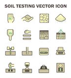 Soil test icon. Vector icon of soil and soil testing Stock Image