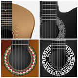 Vector icon of some types guitar. Royalty Free Stock Photos