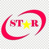 Vector icon of a star. Star inscription and star object. Logo for your design. Layers grouped for easy editing illustration vector illustration