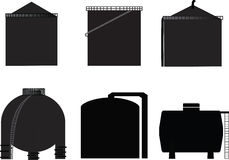 Vector, icon storage tank. For oil Royalty Free Stock Photography