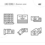 Vector Icon Style Illustration of business card. Stock Photography