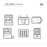 Vector Icon Style Illustration of calendar. Royalty Free Stock Images