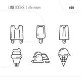 Vector Icon Style Illustration of ice cream. Royalty Free Stock Image