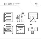 Vector Icon Style Illustration of Mail, letter box, letter. Stock Image
