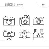 Vector Icon Style Illustration of Photography. Line icons set Stock Images