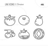 Vector Icon Style Illustration of Tomatoes. Royalty Free Stock Images