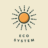 Vector icon of sun royalty free illustration