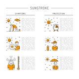Vector icon sunstrocke Stock Photos