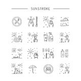 Vector icon sunstrocke Stock Images