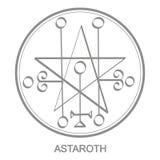 Vector icon with symbol of demon Astaroth