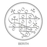 Vector icon with symbol of demon Berith