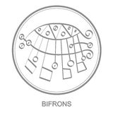 Vector icon with symbol of demon Bifrons