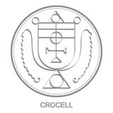 Vector icon with symbol of demon Crocell
