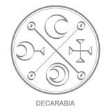 Vector icon with symbol of demon Decarabia
